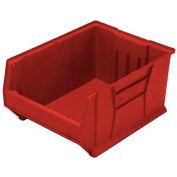 Quantum Hulk Plastic Stacking Bin QUS976RD 16-1/2 x 29-7/8 x 15 Red