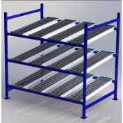 """UNEX Flow Cell Heavy Duty Gravity Rack Starter 72""""W x 48""""D x 72""""H with 3 Levels"""