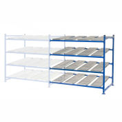 """UNEX Flow Cell Heavy Duty Gravity Rack Add-On 72""""W x 48""""D x 72""""H with 4 Levels"""