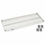 Poly-Z-Brite Wire Shelf 24x54 With Clips