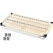 Vented Plastic Mat Shelf 60x18 Nexelon With Clips