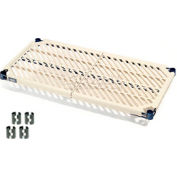 "Nexel PM2430N Vented Plastic Mat Shelf 30""W x 24""D Nexelon with Clips"
