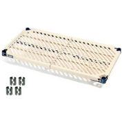 "Nexel PM2448N Vented Plastic Mat Shelf 48""W x 24""D Nexelon with Clips"