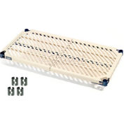 "Nexelite® Nexel PM2460N Vented Plastic Mat Shelf 60""W x 24""D Nexelon with Clips"