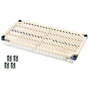 "Nexel PM2472N Vented Plastic Mat Shelf 72""W x 24""D Nexelon with Clips"
