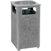 "Global™ Stone Panel Trash Sand Urn Gray 13-1/2"" Square X 32""H"