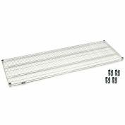 "Nexel S2460S Stainless Steel Wire Shelf 60""W x 24""D with Clips"