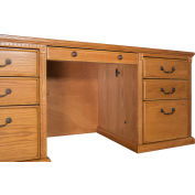 Martin Furniture Executive Desk - Double Pedestal - Wheat - Huntington Oxford Series