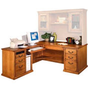 Executive Desk with Left Return for Huntington Office Furniture - Medium Oak
