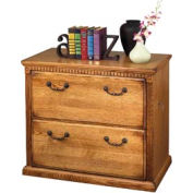 Martin Furniture Lateral File Cabinet, 2 Drawer - Wheat - Huntington Oxford Series