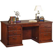 Executive Desk with Center Drawer for Huntington Office Furniture - Cherry