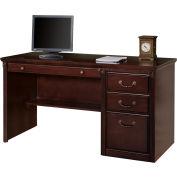 Martin Furniture Single Pedestal Computer Desk - Vibrant Cherry - Huntington Club Series