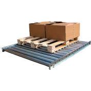 Vestil Galvanized Steel Pallet Floor Conveyor CONV-52-10-2-3L-Z - 10'L - 5000 Lb. Cap.