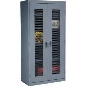 Sandusky Expanded Metal Door Storage Cabinet EA4M461872 - 46x18x72, Charcoal