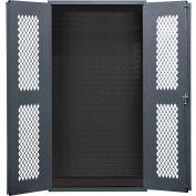 """Durham Heavy Duty Expanded Metal Mesh Door Cabinet EMDC-361884-95 - 14 Gauge 36""""W x 18""""D x 84""""H"""