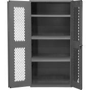 """Durham Heavy Duty Expanded Metal Mesh Door Cabinet EMDC-362484-95 - 14 Gauge 36""""W x 24""""D x 84""""H"""
