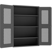 """Durham Heavy Duty Expanded Metal Mesh Door Cabinet EMDC-481872-95 - 14 Gauge 48""""W x 18""""D x 72""""H"""
