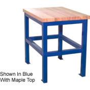 "Built-Rite Standard Shop Stand, Maple Butcher Block Square Edge, 24""W x 36""D x 30""H, Beige"
