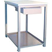 24 X 36 X 36 Drawer / Shelf Shop Stand - Plastic - Beige