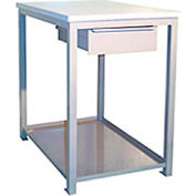 18 X 24 X 24 Drawer / Shelf Shop Stand - Maple- Gray