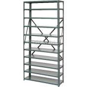 Global Industrial™ Steel Open Shelving 10 Shelves No Bin - 36x18x73