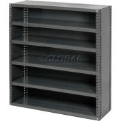 """Closed Style Steel Shelf With 6 Shelves 36""""Wx18""""D'39""""H Ready To Assemble"""