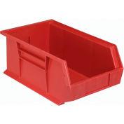 Quantum Plastic Storage Bin - Small Parts QUS241 8-1/4 x 13-5/8 x 6 Red - Pkg Qty 12