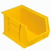 Quantum Plastic Storage Bin - Parts Storage Bin QUS242 8-1/4 x 13-5/8 x 8 Yellow - Pkg Qty 12