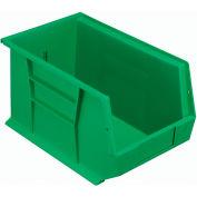 Quantum Plastic Stackable Bin QUS242 8-1/4 x 13-5/8 x 8 Green - Pkg Qty 12
