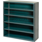 "Closed Style Steel Shelf With 6 Shelves 36""Wx12""Dx39""H Ready To Assemble"