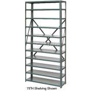 """Open Style Steel Shelf With 7 Shelves 36""""Wx12""""Dx39""""H Ready To Assemble"""