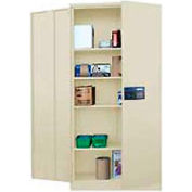 Sandusky Snapit Keyless Electronic Storage Cabinet KDE7236 Easy Assembly - 36x18x72, Putty