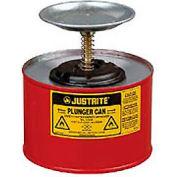 Justrite Safety Plunger Can - 2 Quart Steel, 1020-8