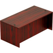 71 Inch Rectangular Desk Shell in Mahogany - Executive Modular Furniture