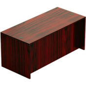 66 Inch Rectangular Desk Shell in Mahogany - Executive Modular Furniture