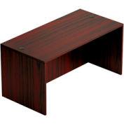 60 Inch Rectangular Desk Shell in Mahogany - Executive Modular Furniture