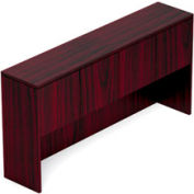 71 Inch Overhead Hutch with Doors in Mahogany - Executive Modular Furniture