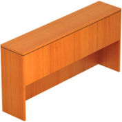 71 Inch Overhead Hutch with Doors in Medium Cherry - Executive Modular Furniture