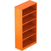 4 Shelf Bookcase in Medium Cherry - Executive Modular Furniture