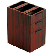 Offices To Go™ 3 Drawer Pedestal in Mahogany - Executive Modular Furniture
