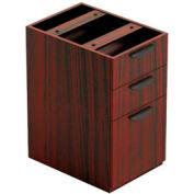 3 Drawer Pedestal in Mahogany - Executive Modular Furniture