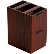 2 Drawer Pedestal in Mahogany - Executive Modular Furniture