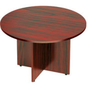 48 Inch Round Conference Table in Mahogany - Executive Modular Furniture