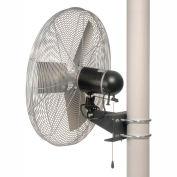 """TPI 24"""" Pole Mount Fan 1/3 HP 7000 CFM 1 Phase 277V, Totally Enclosed Motor"""