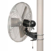 TPI IHP24-H-WD-PM, 24 Inch Washdown Rated Pole Mount Fan 1/3 HP 4300 CFM