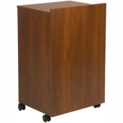"Mobile Lectern With AV Cart, 21""W x 18""D x 33""H, Walnut"