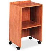 "Mobile Lectern With AV Cart, 21""W x 18""D x 33""H, Medium Oak"
