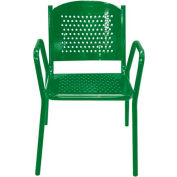 Leisure Craft Outdoor Perforated Chair with Armrests - Green