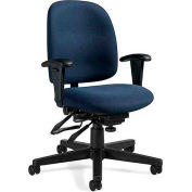 Global™ Granada Low Back Multi-Tilter Chair -  Blue Fabric Upholstery