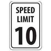 "Aluminum Sign -  Speed Limit 10 - .063"" Thick, TM18H"